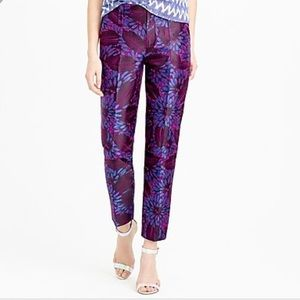 {J.Crew} GARDEN PANT IN MIDNIGHT FLORAL JACQUARD